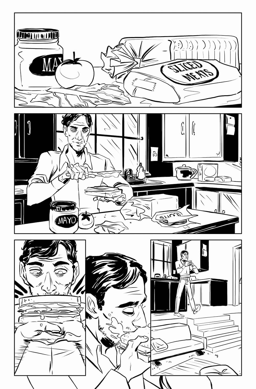 A Slip of the Tongue, page 1, by Sam Costello and Jen Hickman