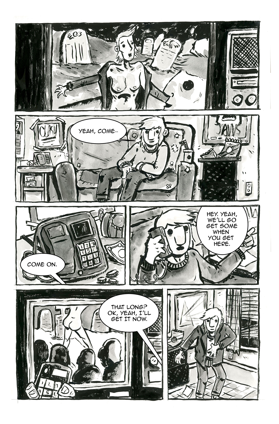 Hey, Come Here, pg 1, by Sam Costello and Claire Connelly