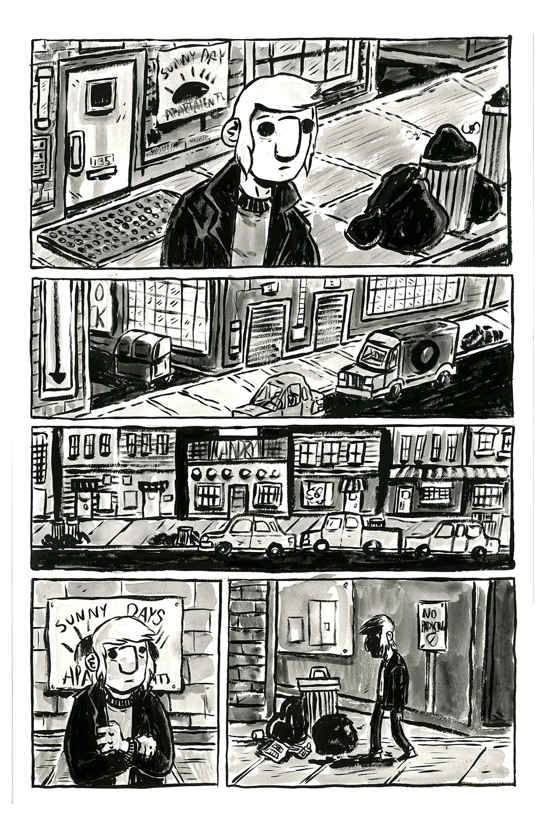 Hey, Come Here, pg 2, by Sam Costello and Claire Connelly
